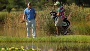 PRETORIA, SOUTH AFRICA - FEBRUARY 12: Anthony Michael during day 2 of the 2016 Tshwane Open at Pretoria Country Club on February 12, 2016 in Pretoria, South Africa. EDITOR'S NOTE: For free editorial use. Not available for sale. No commercial usage. (Photo by Petri Oeschger/Sunshine Tour/Gallo Images)