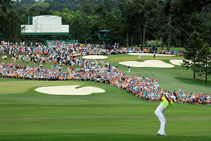 Rory McIlroy at Augusta National