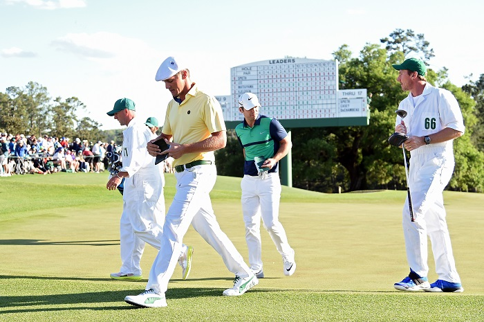 Friday rounds at Augusta