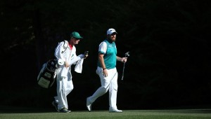 during the third round of the 2016 Masters Tournament at Augusta National Golf Club on April 9, 2016 in Augusta, Georgia.