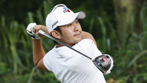 SHENZHEN, CHINA - APRIL 25:  Soomin Lee of South Korea plays a shot during the final round of the Shenzhen International at Genzon Golf Club on April 25, 2016 in Shenzhen, China.  (Photo by Lintao Zhang/Getty Images)