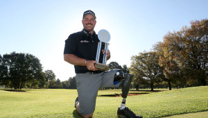 PRETORIA, SOUTH AFRICA - MAY 04: Chad Pfeifer during day 3 of the 2016 SA Disabled Golf Open at Zwartkop Country Club on May 04, 2016 in Pretoria, South Africa. EDITOR'S NOTE: For free editorial use. Not available for sale. No commercial usage. (Photo by Carl Fourie/SADGA/Gallo Images)