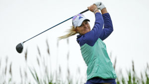 GALLOWAY, NJ - JUNE 5: Anna Nordqvist of Sweden hits her tee shot on the third hole during the final round of the ShopRite LPGA Classic presented by Acer on the Bay Course at the Stockton Seaview Hotel & Golf Club on June 5, 2016 in Galloway, New Jersey. (Photo by Hunter Martin/Getty Images)