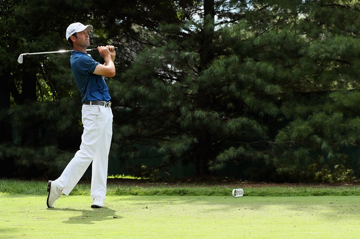 Robert Streb shoots 63, takes a share of the lead