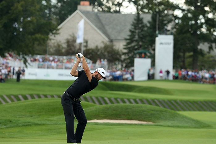 DJ ahead by three at BMW Championship