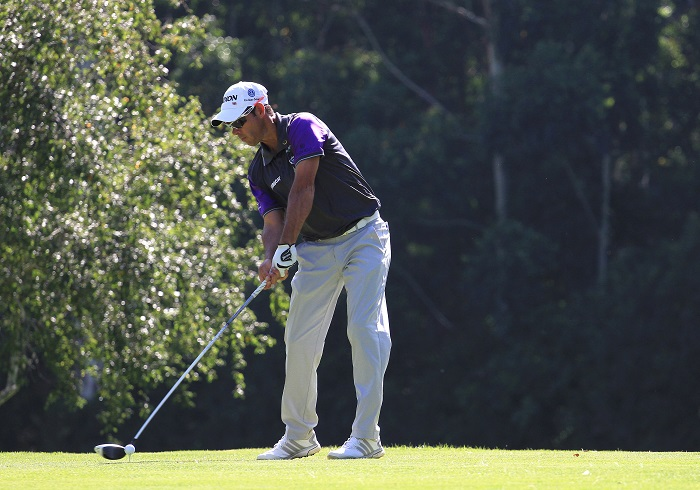 Van Zyl goes steady at watery European Open