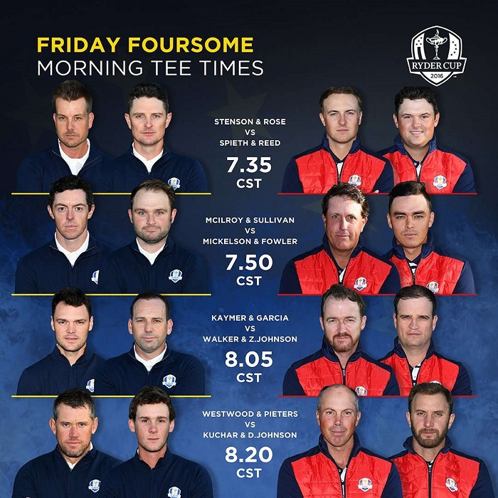 Friday foursomes