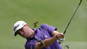 KUALA LUMPUR, MALAYSIA - OCTOBER 20: Justin Thomas of the United States plays his shot on the 18th hole during day one of the 2016 CIMB Classic atthe TPC, Kuala Lumpur on October 20, 2016 in Kuala Lumpur, Malaysia.  (Photo by Stanley Chou/Getty Images)