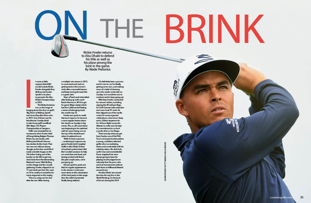 Rickie Fowler on the brink