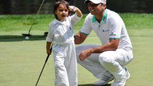 Jason Day at the Masters Par 3 contest