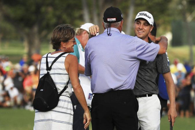 Justin Thomas with family