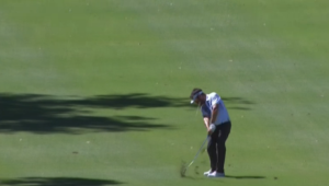 Louis Oosthuizen holes out