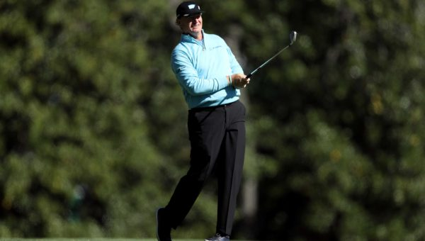 Ernie Els during the second round of The Masters