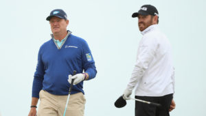 Louis Oosthuizen and Ernie Els