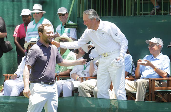 Gary Player and Branden Grace
