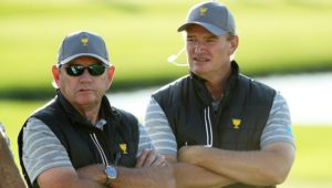 Nick Price with Ernie Els