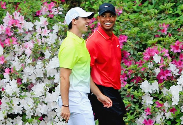 Tiger Woods and Rory McIlroy at Riviera