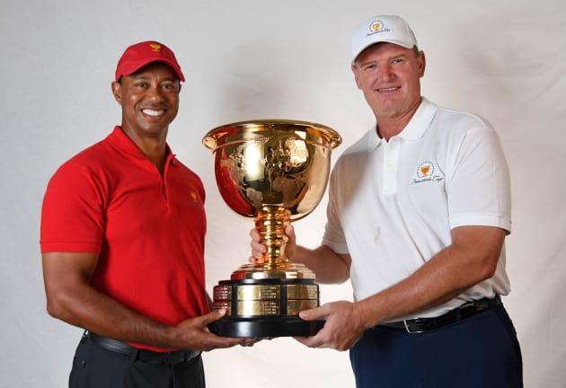 Presidents Cup Els vs Woods