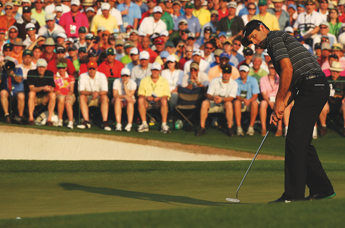 Charl Schwartzel at The Masters