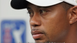 Tiger Woods awkward moment