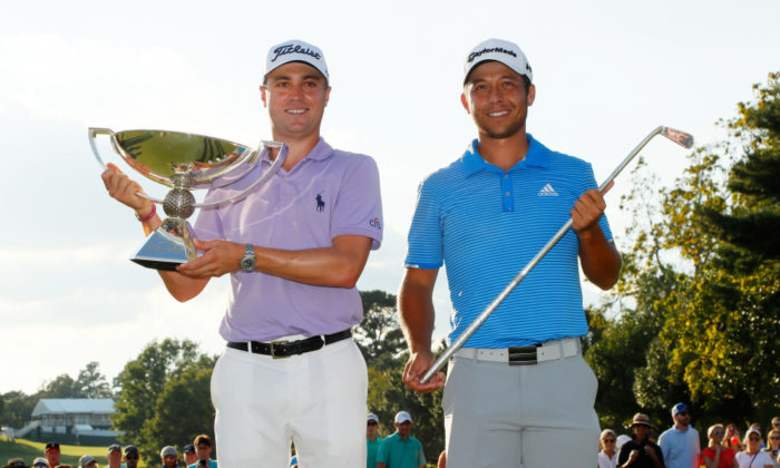 Justin Thomas and Xander Schauffele at the FedExCup finale