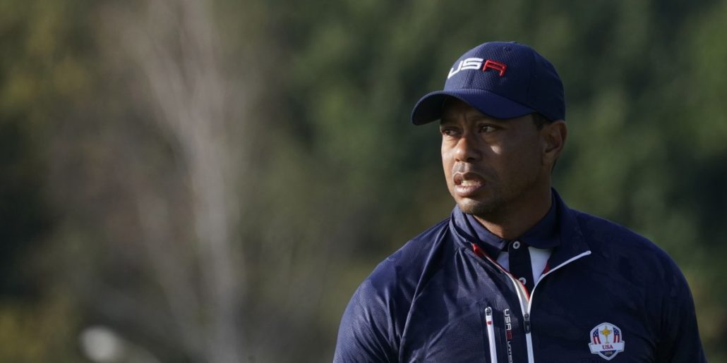 Tiger Woods at the Ryder Cup