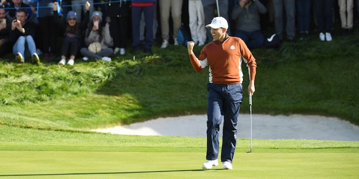 Sergio Garcia at the Ryder Cup