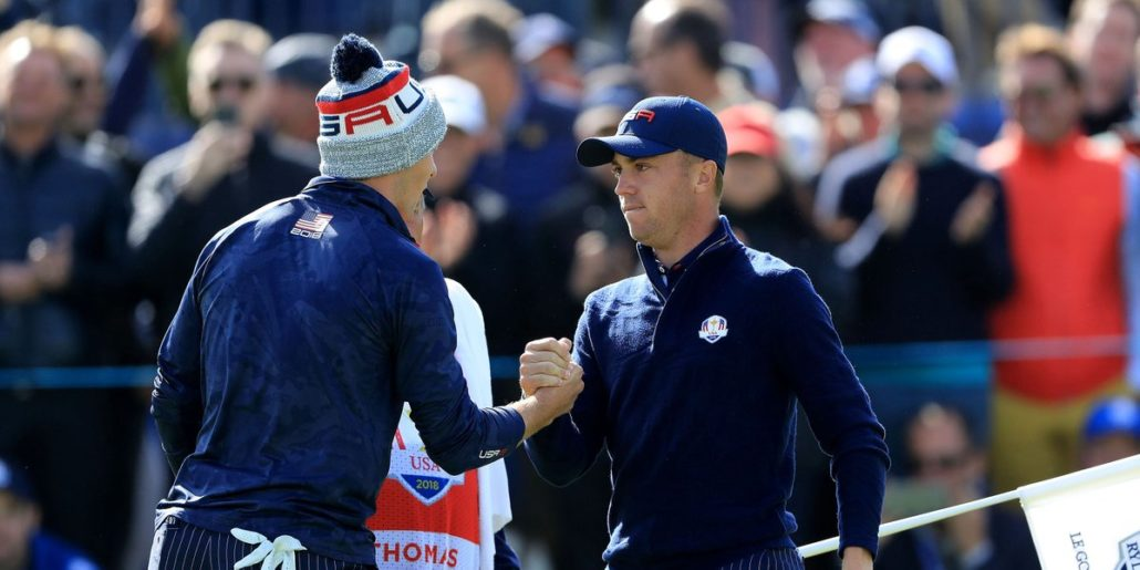 Team USA Justin Thomas and Jordan Spieth