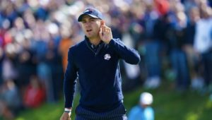 Justin Thomas at the Ryder Cup