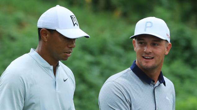 Tiger Woods and Bryson DeChambeau