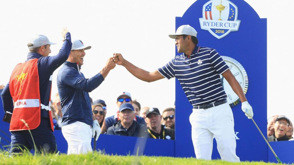 Tony Finau at the Ryder Cup