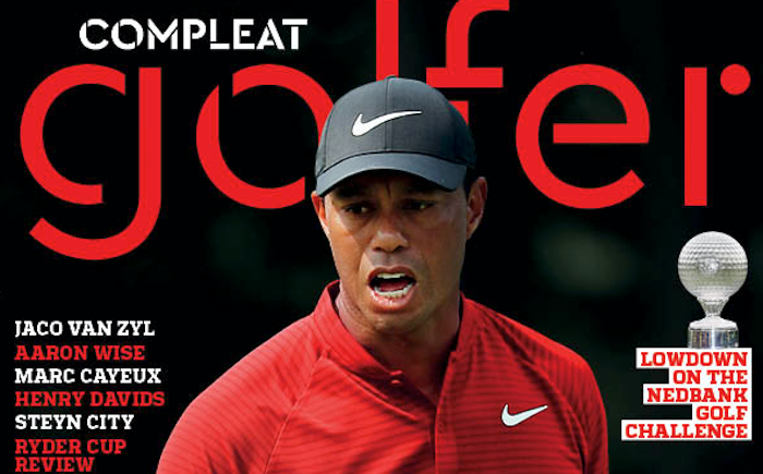 Tiger Woods on Compleat Golfer cover