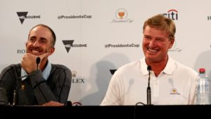 Ernie Els and Geoff Ogilvy