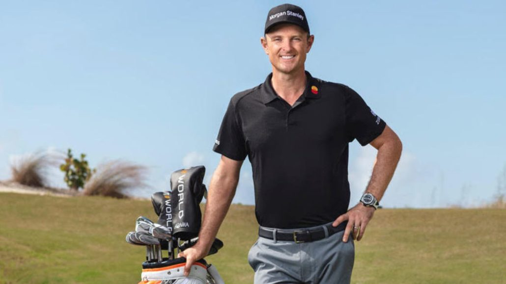 Justin Rose signs for Honma