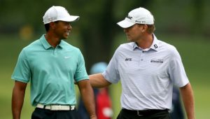 Tiger Woods and Steve Stricker
