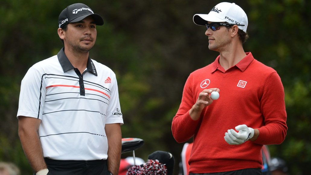 Jason Day and Adam Scott