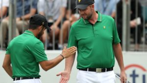 Internationals team Abraham Ancer and Marc Leishman
