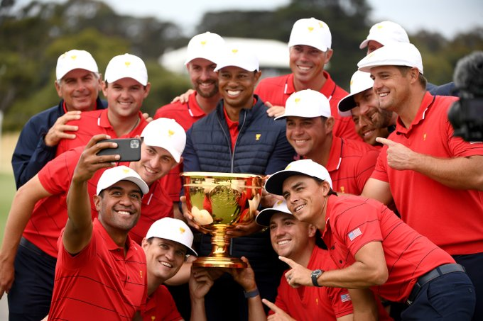 Tiger Woods and his USA team