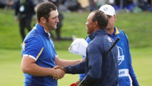 Jon Rahm and Tiger Woods at the Ryder Cup
