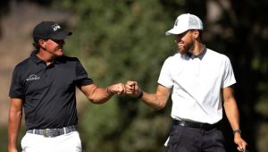 Phil Mickelson and Steph Curry