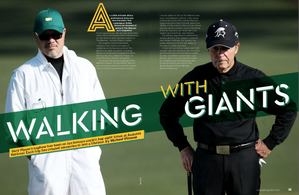 CADDYING AT THE MASTERS: Walking With Giants